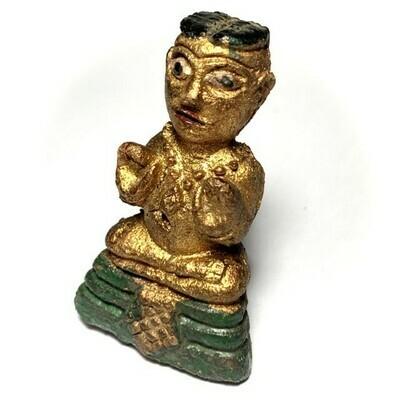 Kumarn Tong Bucha Statuette Nuea Din Aathan Pasom Pong Prai Early Era 5Cm Luang Por Te Wat Sam Ngam