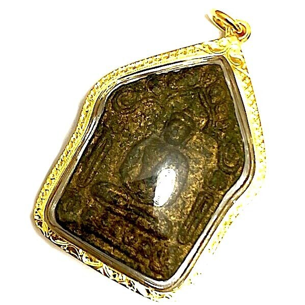 Khun Phaen Prai Kumarn Nuea Grayasart Tone Khiaw Ta Bronze Takrut Sariga Koo 1st Prizewinner Trophy & Authenticity Certificate LP Tim Gold Casing Express Shipping