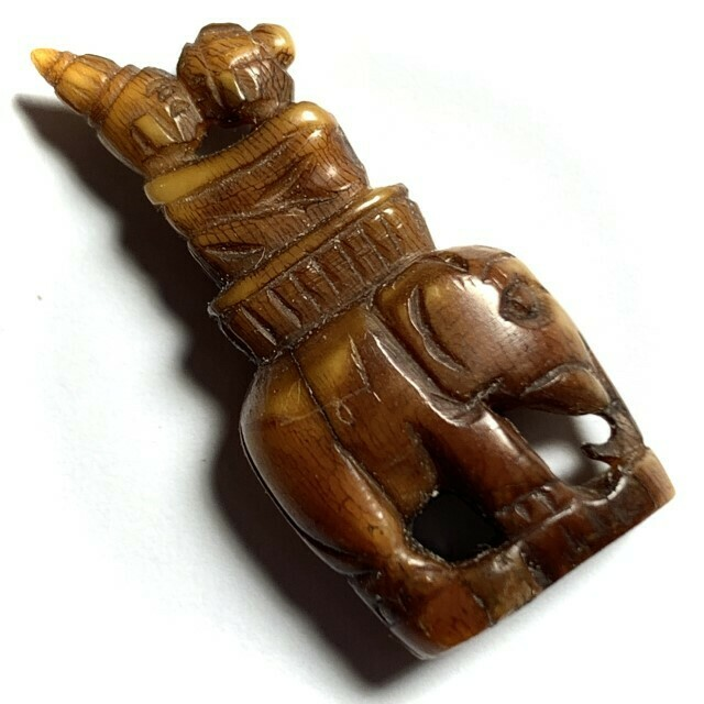 Taep U-Dting  Ancient Thai Lanna Animist Charm Carved Ivory Tai Yai Hilltribe Wicha Extremely Rare Free Shipping
