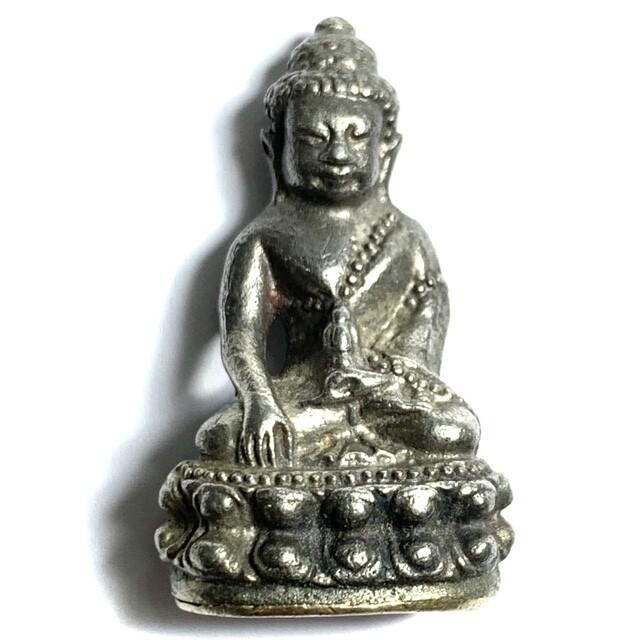 Pra Kring Chinabanchorn Nuea Boroma Putto Silver Base Code Sala & Met Nga Stamps & Authenticity Certificate Luang Phu Tim Wat Laharn Rai