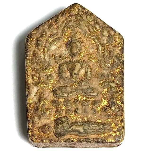 Khun Phaen Pong Prai Kumarn Pim Lek Nuea Khaw Hniaw Sukh Hlang Tong Kam Solid Gold Rear Hand Inscriptions Code Sala 2nd Prize Certificate Luang Phu Tim Wat Laharn Rai