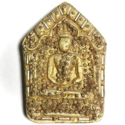 Khun Phaen 2515 LP Tim 1st Prize Trophy Winner Nuea Pong Prai Kumarn & Certificate 300 Silver Takrut 108 Chanuan Beads