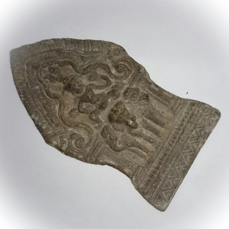 Indra God on 3 headed Elephant Steed Lopburi Era Art - 11.5 x 6 Cm Plaque - Nuea Chin Boran Ancient Sacred Artifact from 100 Year Old Archeological Dig