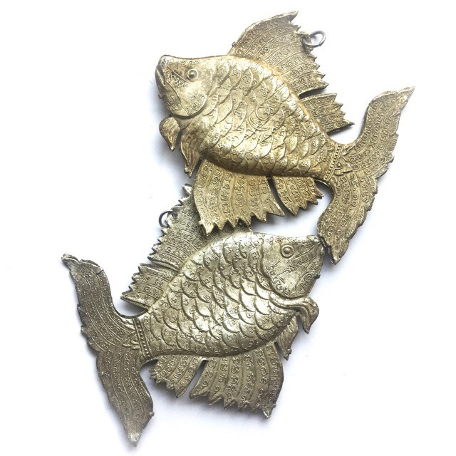Pla Tapian Koo Ngern-Tong Lucky Barb Fish for Prosperity and Good Business - 4 Inches - Luang Por Te Wat Sam Ngam