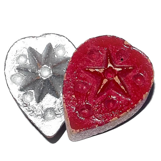 Daw Nai Pan Nai Pon Pim Lek - Lucky Star 5 and 8 Pointed Pentacle Amulet - Luang Por Pina - Wat Sanom Lao