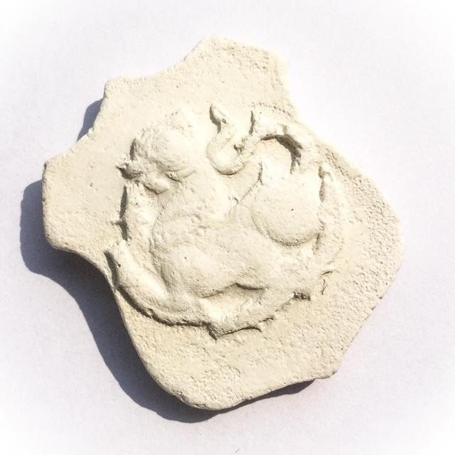 Paya Rachasri Phone Nuea Pong Puttakun Pasom Poon - Ultra Rare Singha Lion Amulet - Luang Phu Doo Wat Sakae