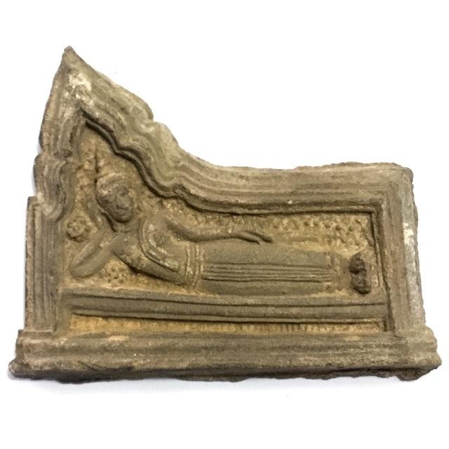 Pra Kru Kone Samor Pim Sayasana - Over 200 Year Old Ayuttaya Period Clay Buddha Amulet - 2430 BE Royal Palace Hiding Place Find
