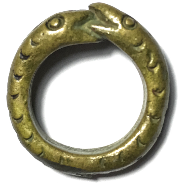 Hwaen Ngu Giaw Lor Boran Entwined Snakes Magic Ring of Protection Wealth and Treasure Circa 2460 BE - Luang Por Im - Wat Hua Khao