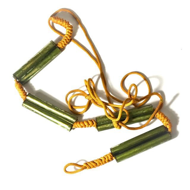 Chueak Kart Aew Takrut Paed Dork 8 Prayer Water Soaked Takrut Spells on Cord Belt  2515 BE Luang Phu Jiam Wat Nong Yaw