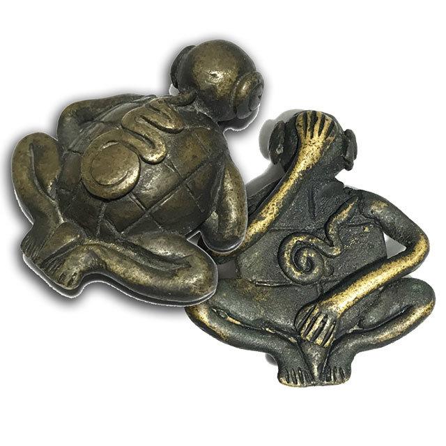 Dtao Pra Pid Tawarn Silapa Nakorn Sai Khao Or Circa 2500 BE Nirodha Turtle-Buddha LP Jek & Khao or Masters