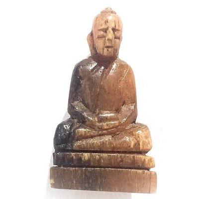 Pra Putta Kodom Khao Kwai Gae Carved Horn Siddhartha Buddha Rare Master Class Amulet Luang Por Derm Wat Nong Po