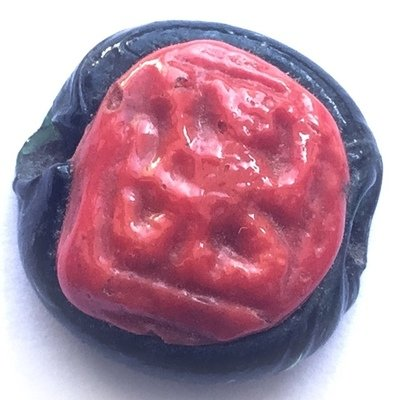 4 Arms Hanuman Yawning at the Moon and Stars Circa 2485 BE - Nuea Krang Red-Black Herbal Resins - Luang Por Opasi Asrom Bang Mot
