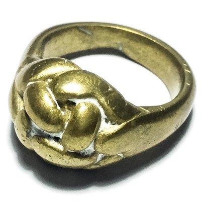 Hwaen Pirod Hua Dtakror 1 Khad Niyom First Edition - Magic Ring of Power + Protection 2.1 Cm - Luang Por Sai Wat Tong Kung