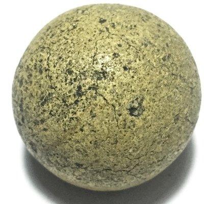 Look Om Pong Wised Pim Niyom 2460 BE - 5 Sacred Powders Wishing Ball Large Size 2 Cm - Luang Por Parn Wat Bang Nom Kho