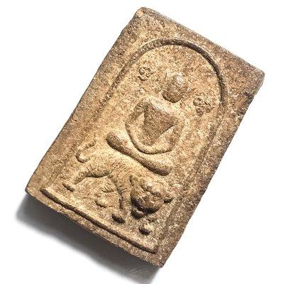 Pra Somdej Hmen Khee Suea 2522 BE - Somdej Buddha Riding Tiger - Nuea Pong Hmen Smelly Powders - Luang Por Un Wat Tan Gong