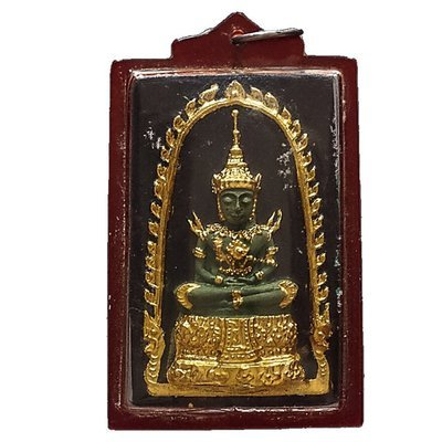 Pra Gaew Morakot Song Ruedu Rorn 2512 BE Emerald Buddha in Summer Robes - Luang Phu Rerm Wat Juk Gacher