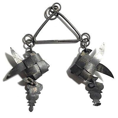 Pla Tapian Koo Silver Barbfish Origami Yantra for Prosperity - Luang Phu Rian Wat Bang Rahoeng