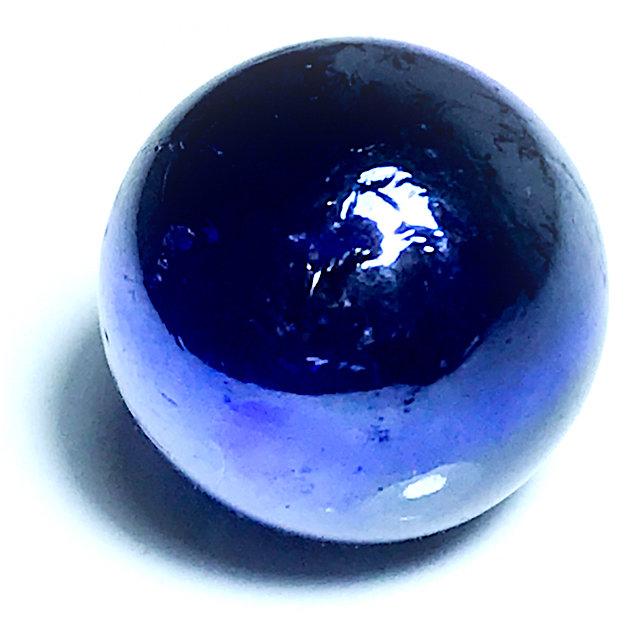 Look Gaew Sarapat Neuk Blue Crystal Wishing Ball 1 Cm - Luang Por Opasi - Asrom Bang Mot 2490 BE