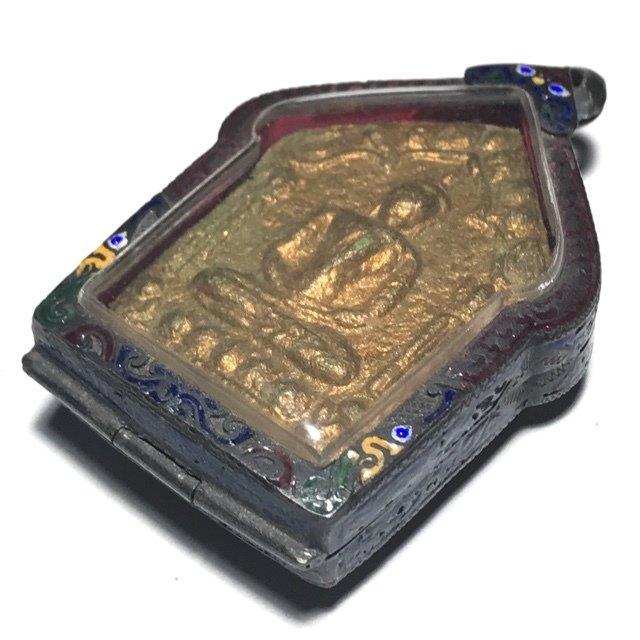 Khun Phaen Prai Kumarn 2515 Pim Yai Niyom Nuea Khiaw Ta Bronze 2 Takrut Sariga & Certificate Luang Phu Tim