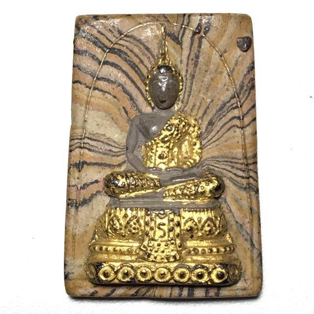 Pra Gaew Morakot 2512 BE Rainbow Powders Emerald Buddha in Winter Robes Luang Por Tong Rerm & Luang Phu Rerm