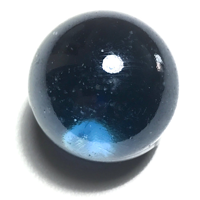 Look Gaew Sarapat Neuk Large Size 1 Inch Blue Crystal Wishing Ball Luang Por Opasi