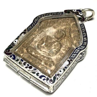 Khun Phaen Prai Kumarn Pim Song Pol Yai Takrut Koo No 0999 With Certificate Free Silver Casing Luang Phu Tim
