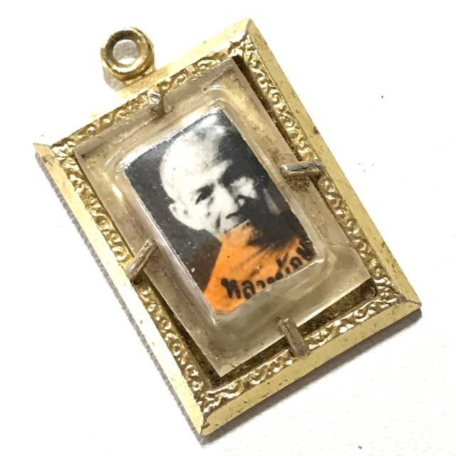 Locket Roop Tai 3 Takrut Sam Kasat 2510 BE Amulet for Protection, Prosperity and Mercy Charm Luang Por Mum Wat Prasat Yer