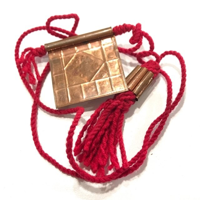 Takrut Gao Gum Nine Yantra Spells with Takrut Yant Hneeb Twin Set on Spellbound Cords Kroo Ba Wang Wat Ban Den