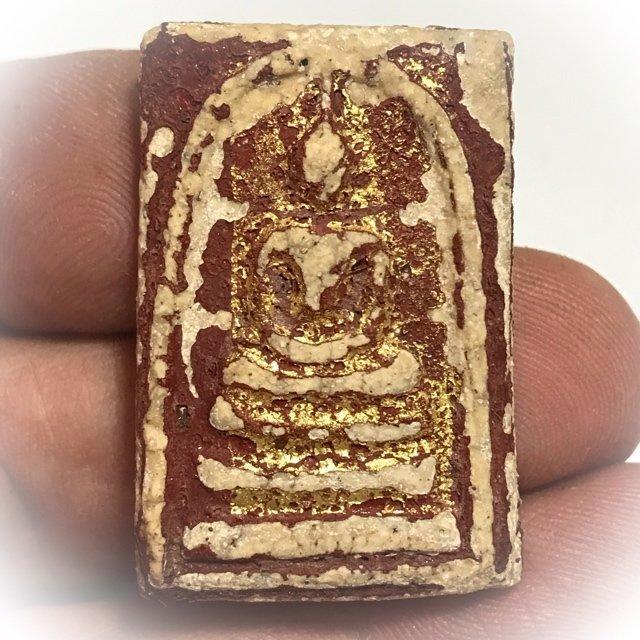 Pra Somdej Wat Rakang Long Rak Pid Tong Kru Wat Kanlayanamit Gold Leaf Red Lacquer & Certificate Free Express Shipping