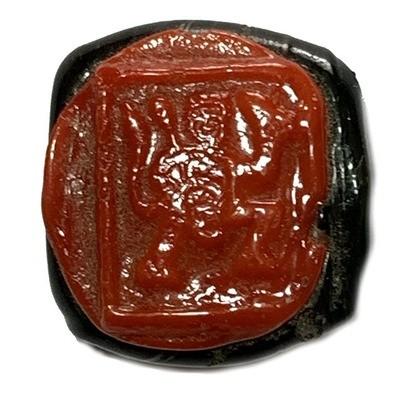 4 Armed Hanuman Nuea Krang 2485 BE Red Black Sacred Herbal Resins Luang Por Opasi Asrom Bang Mot