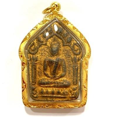 Khun Phaen Prai Kumarn Pim Niyom 2515 BE Block 2 Nuea Wan Plai Dam Takrut Sariga Solid Gold Casing & Authenticity Certificate Free EMS Luang Phu Tim