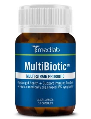 Multibiotic Multi-Strain Probiotic - 30 Capsules