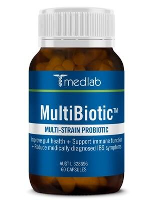 Multibiotic Multi-Strain Probiotic - 60 Capsules
