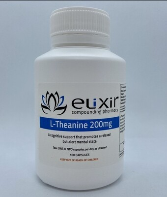 L-Theanine 200mg - 100 Capsules
