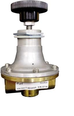 ITT Conoflow GH10XTHCXXXC Brass Manual Loading Regulator, 0-25 PSI