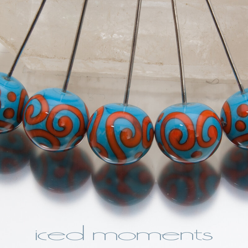 Helix rounds in dark sky blue and orange
