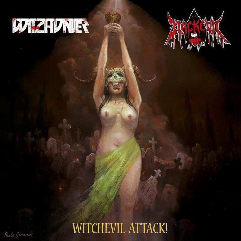 BLACKEVIL / WITCHUNTER Split LP