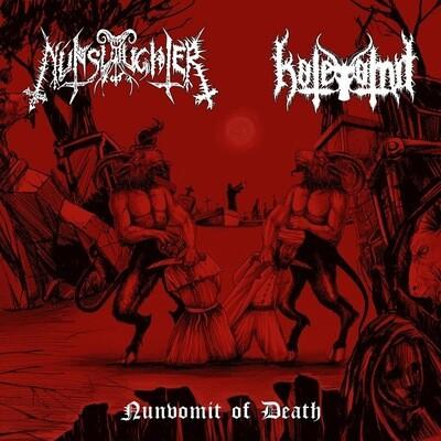 "NUNSLAUGHTER / HATEVOMIT Split 7""EP"