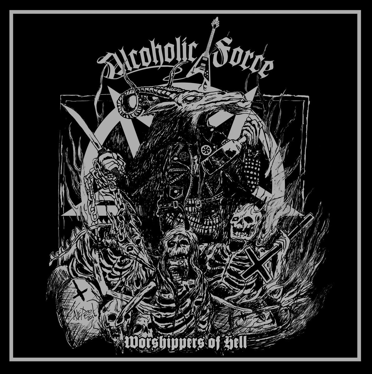 ALCOHOLIC FORCE - Worshipper of Hell LP