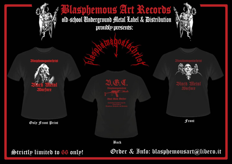 BLASPHAMAGOATACHRIST - Black Metal Warfare T-SHIRT