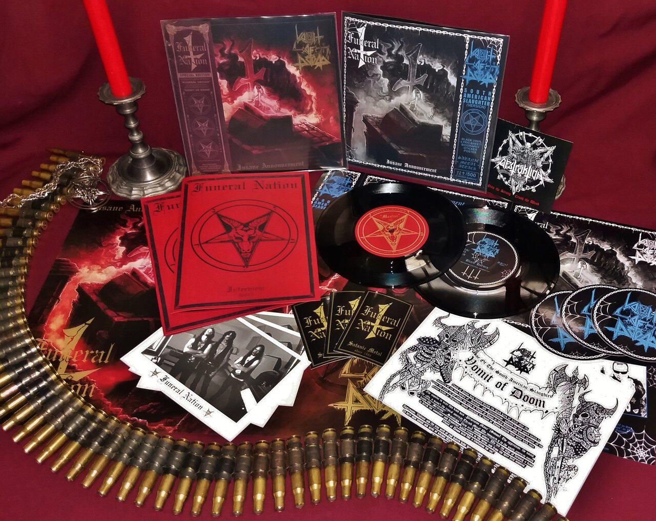 "FUNERAL NATION / VOMIT OF DOOM Split 7""EP"