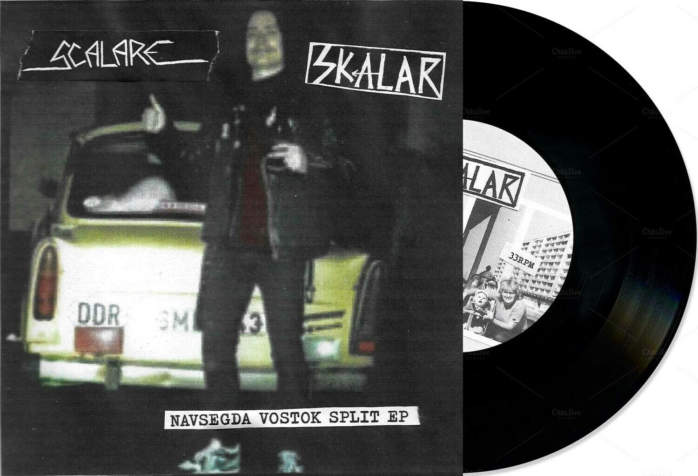 """SCALARE / SKALAR - Navsegda Vostok Split 7""""EP (Black Vinyl) PRE-ORDER"""