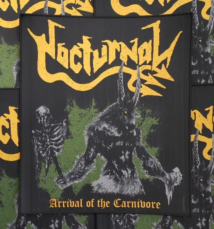 NOCTURNAL- Arrival of the Canivore BACKPATCH