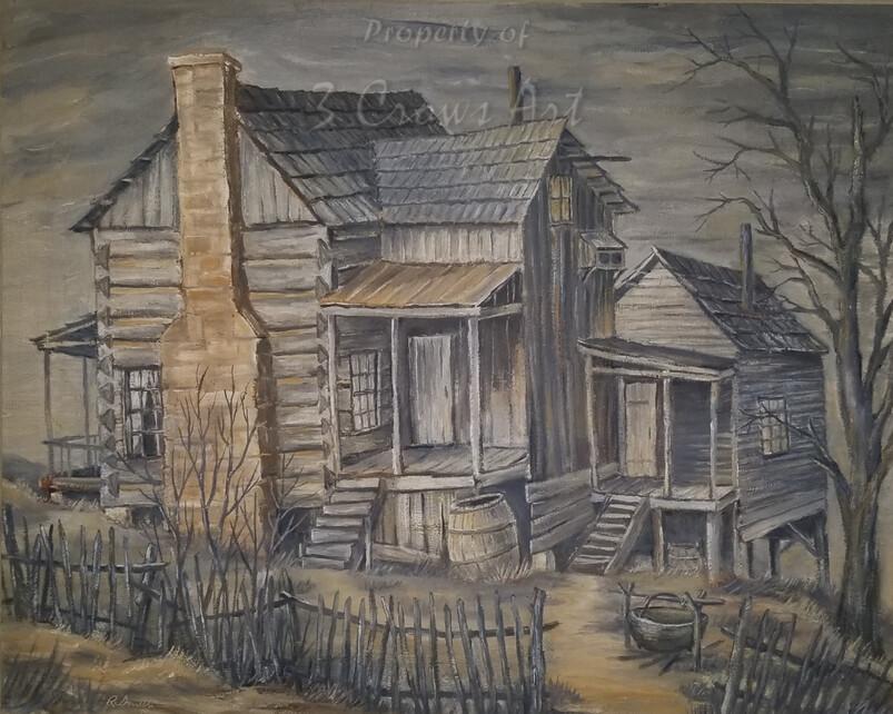 Appalachian Architecture       (original painting) 20X16