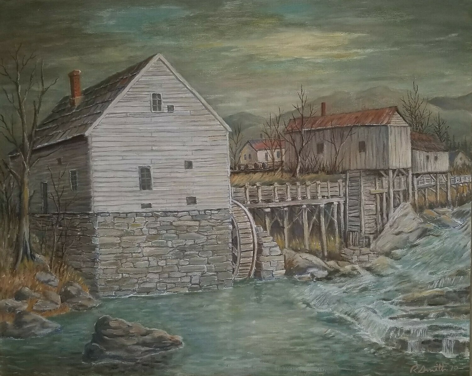 Fiddler's Mill Pool (16x20-original painting - photo included)