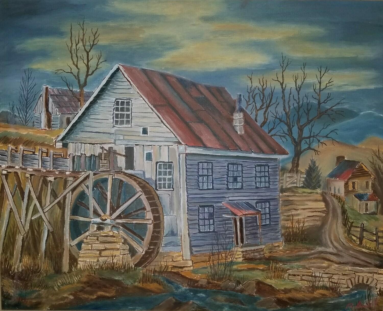 Mc Neel Mill (original painting) 16x20
