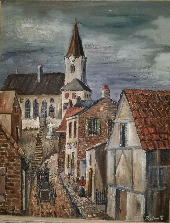 Belgium Street  (Original Painting & Sketch) 20x16