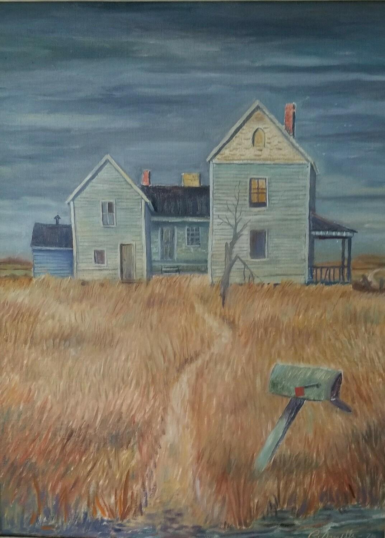 No Body Home (original painting) 16X20