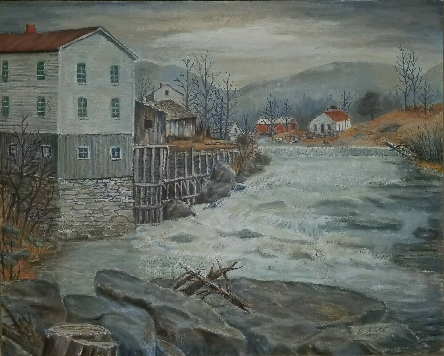Fiddler's Mill Falls  (original painting) 16X20
