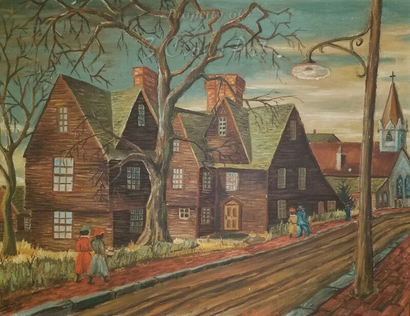 House of Seven Gables (original painting) 16X20